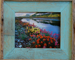 MyBarnwoodFrames - 5x7 Barnwood Picture Frame Lighthouse Robin Egg Blue Rustic Wood Frame - A  beautiful  barnwood  picture  frame  perfect  for  your  beach-themed  decor,  a  child's  bedroom,  or  even  a  country  bathroom.  We've  added  a  colorful  robin  egg  aqua  blue  inner  border  to  this  nautical-style  reclaimed  wood  frame.  Each  of  our  handmade  wooden  photo  frames  can  be  mixed  and  matched  with  other  colors  and  styles  for  a  unique  look.  Due  to  variances  in  color  monitor  settings,  the  color  you  see  in  the  image  above  is  approximate.  Please  call  to  request  a  corner  sample  if  color  match  is  critical.