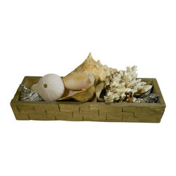 """Punky Hill - Distressed Decor Tray, 18"""" X 6"""" - This Punky Hill Decor Tray is a great addition to the mantle, table top, shelf or dresser.  The detail and texture will bring life to anything inside this tray.  Great for all seasons.  18"""" long, 6"""" wide and 3"""" tall."""