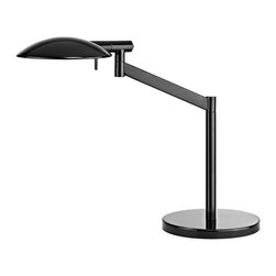 Sonneman Lighting - Sonneman Lighting 7087.62 Perch Contemporary Pharmacy Table Lamp - Perch Pharmacy Swing Arm Table Lamp has a boldly scaled shade: rotating on two axes, the slimly profiled silhouette radiates a broadly spread distribution of comfortable light for reading or concentrating on the task at hand.
