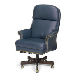 EuroLux Home - New Chair Executive Wood Leather Removable - Product Details