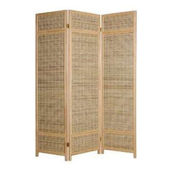 Sheet Bamboo Screen - Is your home office at the foot of your bed? You'll sleep more peacefully if you block the view and when you're working you'll have fewer distractions. You can use it in a guest room to give the sense of more privacy when placed at the foot of the bed.