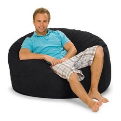 Relax Sacks - Giant Relax Sac Bean Bag Lounger - This oval shaped version of the classic bean bag chair is the Cadillac of modern foam filled chair. Relax Sacks are often touted by fans as, ''the most comfortable chair in the world''. They are a perfect way to create a relaxed, informal setting or liven up your home theatre, gaming room or playroom. Giant foam sofa sacks are perfect for watching TV, gaming, listening to music or just relaxing. Relax Sacks are comprised of only the finest materials available, far exceeding those of other brands. Double top stitched seams on both inner liner and outer covers securely bond the highest grade fabric to ensure no failures occur for years to come. Unlike the classic bean bags of the 70's which were filled with styrofoam beads that quickly broke down and lost their shape, our polyurethane foam is made in the USA, trimmed in US furniture factories, and finally shredded and stuffed in our facility located in the heartland of America. Over a dozen years of research and fine tuning have combined to create a perfect marriage between such factors as: size, density, and amount of shredded foam, breathability, durability, and comfort of fabric, size, brand, and safety of zippers. Consider carefully all factors when purchasing this piece of furniture and remember not all giant foam bag chairs are created equal. Restoring the puffiness of your chair is easy, simply roll it around on the floor until you have sufficiently fluffed the life back. We strongly suggest you frequently fluff your chair to maintain the integrity and soft feel of the foam. Features: -Premium YKK 5 zippers.-Durable 220 GSM fabric.-Double top stitched seams.-ISTA 3A certified.-Machine washable zip-off cover.-Distressed: No.-Country of Manufacture: United States.Specifications: -USA made foam 2CFW.Dimensions: -Overall Product Weight: 45 lbs.Warranty: -1 Year warranty.