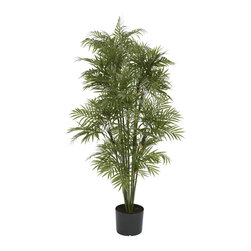 Nearly Natural - Plastic Parlour Palm Tree - Add a touch of the tropics to your home or office with this realistic plastic palm tree. This beautiful tree is the perfect way to bring paradise to your decor.