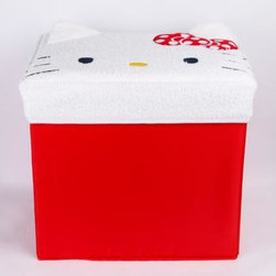Hello Kitty Storage Box, Face - Make space both functional and stylish with this Hello Kitty storage box. Keep small items inside, right underneath Hello Kitty's face.
