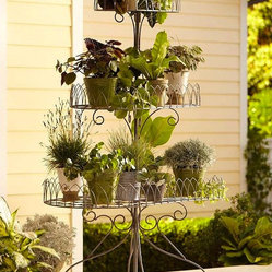Iron Scroll 3-Tier Plant Stand