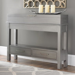 Sleek Narrow Storage Console -