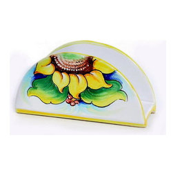 Artistica - Hand Made in Italy - SUNFLOWER: Napkins holder - GIRASOLE Collection: (Sunflower)
