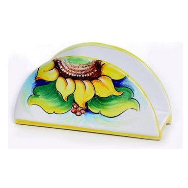 Artistica - Hand Made in Italy - Sunflower: Napkins Holder - Girasole Collection: (Sunflower)