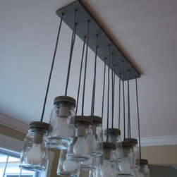 Finished Houses-Fixtures & Details - Farmhouse 17 Mason Jar Pendant Lights