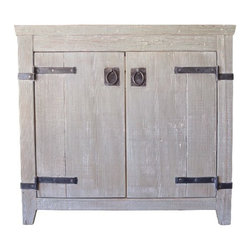 "Native Trails - Native Trails 36"" Americana Vanity in Driftwood - *Crafted from recycled wood for exceptional strength"