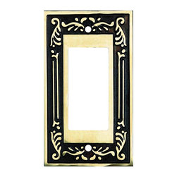 Renovators Supply - Switchplates Antique Solid Brass GFI Switch Plate Die Cast - Switchplates. This elegant solid brass Victorian style wallplate features an antique brass finish.