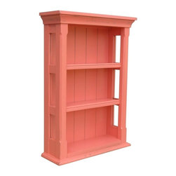 EuroLux Home - New Wall Cabinet Pink Painted Hardwood Open - Product Details