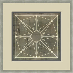 """Mantle Art Company - Vision Studio """"Geometric Blueprint VIII"""" fine art print - Beautiful modern art custom framed by designers to bring out the best in this piece of art. Made in the USA"""