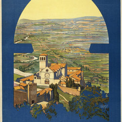 Keep Calm Collection - Assisi Vintage Travel Poster, art print - This product is reproduced from a publication, advertisement, or vintage poster. To maintain consistency with the original image, this final product has not been retouched. This print is produced on a 270 gsm fine art paper stock.