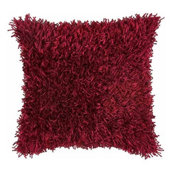 Rizzy Home - Burgundy and Burgundy Decorative Accent Pillows (Set of 2) - T03970 - Set of 2 Pillows.