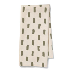 "Pehr Designs - Bloc Tea Towel, Olive - Pehr Tea Towels are made of an absorbent cotton/linen blend and will infuse style into any kitchen. All of our Tea Towels are 18"" x 24""."