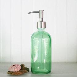 Mint green glass mosaic kitchen bathroom bathroom for Green glass bathroom accessories