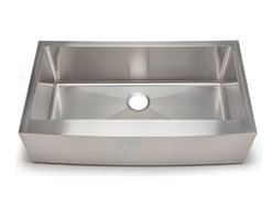 Hahn - Hahn Chef Series - Handmade Extra Large Single Bowl Farmhouse - Traditional style meets modern appeal with the Handmade Chef Series from Hahn.  Boasting tight clean corners and a sleek sophisticated feel, the Hahn Farmhouse Extra Large Single Sink will give your kitchen a unique modern touch.  With deep bowls for functionality and ample work space, this versatile farmhouse sink is an essential addition to any designer kitchen!