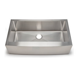 Hahn - Hahn Chef Series, Handmade Single Farmhouse, Extra Large - Traditional style meets modern appeal with the Handmade Chef Series from Hahn.  Boasting tight clean corners and a sleek sophisticated feel, the Hahn Farmhouse Extra Large Single Sink will give your kitchen a unique modern touch.  With deep bowls for functionality and ample work space, this versatile farmhouse sink is an essential addition to any designer kitchen!