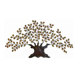 UMA - Abstract Family Tree - A busy tree complete with multiple leaves and stumpy trunk adds a woodsy charm to any wall in the home or office