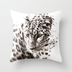 Products for the Modern Home - My original leopard fine art photograph on a decorative pillow cover.