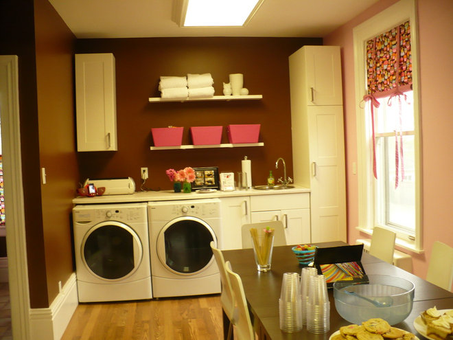 Contemporary Laundry Room by Kalli George Interiors