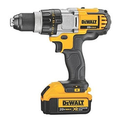 Dewalt - 20V Max Lith-Ion Drill - DEWALT 20 V MAX lithium ion premium 3-speed drill/driver kit (4.O Ah). High power, high efficiency motor delivers 535 unit watts out of max power for superior performance in all drilling and fastening applications.