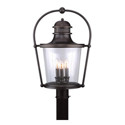 Troy-CSL Lighting - Troy-CSL Lighting P2036EB Guild Hall 3 Light Post Lights & Accessories in Englis - Guild Hall 3Lt Post Lantern Large