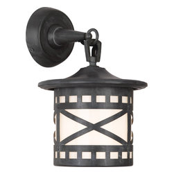 Robert Abbey - Belmont Wall Sconce - A modern twist on an antique wall sconce befitting of a castle entryway. The aged looking finish and ecru shade create a medieval mood in your manor. Add a few, and fortify the strong lighting style in your personal palace.