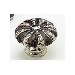 Schaub cabinet knob - Schaub knobs precious inlays collection. Gem stone and sheel hardware.