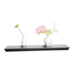 """Welland - Dover Wall Shelf 40"""" - Sleek and lightweight, this slim shelf has the upscale look of crown moulding. Create a floating bookshelf by stacking multiples vertically, or let an individual shelf speak for itself while displaying a few artfully spaced candles."""