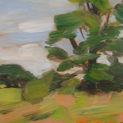 """""""Daytime Lily, Painting"""" - plein air oil painting on primed wood panel"""