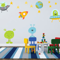Bebe Diva - Outer space Wall Decals - Outer Space Wall Decals