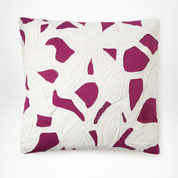Cut Out Applique Pillow - Bring runway-inspired abstract botanicals to your bescape or sofa with this scrumptious pillow from Diane von Furstenberg.