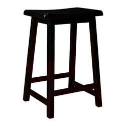 "Monarch Specialties - Monarch Specialties I 1531 Distressed Black 24 Inch Saddle Seat Barstool [Set of - These 24"" distressed black barstools are perfect for all types of game rooms and dining rooms. With its comfortable saddle seat, and well positioned footrest, these pieces are sure to be the staple of many memorable evenings with friends and family. Barstool (2)"