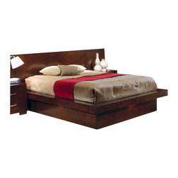 Coaster - Coaster Platform Bed in Light Cappuccino Finish-Queen - Coaster - Beds - 200711Q - Make your bedroom the center of adventure! This Platform Bed from Coaster allows you to do just that with its classy contemporary style and ambient lights that change the mood at the flick of a switch. With solid wood construction overlaid in select veneers with a Light Cappuccino finish this bed will enhance your bedroom experience to maximum levels of fashion and enjoyment. The Platform Bed is available in three sizes each big enough to give your dreams the space they need.