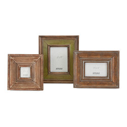 Imax - Unique Contemporary Brown Set of 3 Ramesy Photo Frames Home Decor - Picture this: A trio of photo frames attractively finished in a harvest of autumn colors.