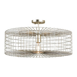 Currey & Company Dusklight Ceiling Mount - Currey and Company Dusklight Ceiling MountDemonstrate enchanting class with the Dusklight ceiling mount by Currey and Company. Upgrade your décor with this brilliant ceiling fixture featuring wrought iron material and incandescent or fluorescent lamping.