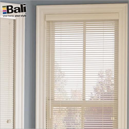 "Bali Northern Heights 1"" Wood Blinds from Blinds.com - North American hardwood is both strong and light, so your wood blinds will be easy to lift and operate. Northern Heights wood blinds come in 18 popular finishes, including paints and stains."