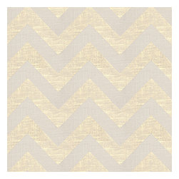 Gold Metallic & Ivory Chevron Fabric - Pale gold metallic chevron on white linen that adds subtle shimmer to any space.Recover your chair. Upholster a wall. Create a framed piece of art. Sew your own home accent. Whatever your decorating project, Loom's gorgeous, designer fabrics by the yard are up to the challenge!