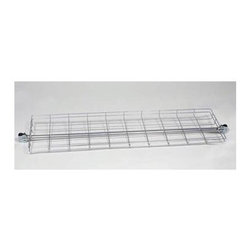 Z Racks - Garment Rack Top Wire Shelf - Supports 200 lbs.. 2.5 in. depth. Heavy gauge steel construction. Specific to 60 in. Heavy Duty Z-Rack and H-Racks only. Made in USA. 60 in. L x 16 in. W x 2.5 in. DAdd a couple of shelves to your Z-Rack. Youve got the stuff to store: from sporting gear to boxes to folded garments. Now it has a place to fit, with a 2.5 in. deep shelf to prevent items from falling off the rack, especially while in motion.