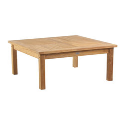 "Douglas Nance - Douglas Nance Classic 42"" Conversation Table - This premium teak table is the perfect fit for conversation areas. Equipped with an umbrella hole if stand alone shading is required."