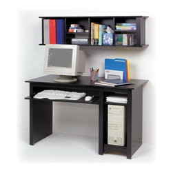 """Prepac - 48"""" W Sonoma Computer Desk - An attractive and trendy furniture line without the trendy prices. The Sonoma Collection has the look and feel of much more expensive millwork. But it doesn't just look good, it costs less! Thoughtful engineering and intelligently grouped production let you enjoy pricing that's well below the costs of traditional case goods. Durable laminated engineered woods with contoured edges and molded trim, along with brushed nickel knobs give this ready to assemble collection a simple elegance. A great addition to your study, office or den, the Sonoma Computer Desk is the perfect complement to the Sonoma bookcase series. Desk includes a roll-out keyboard tray, a deep bottom shelf designed to hold a computer CPU, as well as an adjustable shelf for books and office supplies. Constructed from a combination of high quality, laminated composite woods, this attractive series offers extremely good value for stylish yet budget-conscious buyers. Features: -Computer desk.-Great addition to your study, office or den.-Roll-out keyboard tray.-Deep bottom shelf for computer CPU.-Adjustable shelf for book storage.-Constructed from durable laminated composite woods.-Easy to assemble screw, dowel and cam lock construction.-Contoured tops, side accent moldings and arched kick plate.-Sonoma collection.-Distressed: No.-Collection: Sonoma.-Country of Manufacture: Canada.Dimensions: -Overall dimensions: 48'' W x 29'' H x 23.5'' D.-Overall Product Weight: 75 lbs..Warranty: -5 Year manufacturer's limited warranty. About the Manufacturer: About Prepac: Founded in 1979, Prepac Manufacturing is a state-of-the-art manufacturer of home furnishings and storage products with its main manufacturing factory located in the heart of the forest-rich province of British Columbia, Canada. Prepac is now one of the largest producers of ready to assemble furniture in Canada, with full-service representation throughout North America. To ensure our customers receive outstanding de"""
