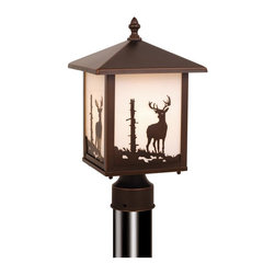 Vaxcel - Vaxcel OP33585BBZ Bryce Outdoor Post Light (Deer) - Vaxcel Lighting OP33585BBZ Bryce Post Mount Light This product from Vaxcel Lighting comes in a burnished bronze finish. Works with one 100-watt frosted