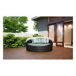 Wink Modern Outdoor Canopy Daybed, Spa Cushion