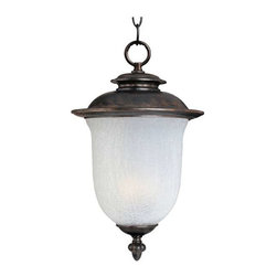 Maxim Lighting - Maxim Cambria Cast 2-Light Outdoor Hanging Lantern Chocolate -3098FCCH - Cambria Cast is a transitional style collection from Maxim Lighting Interior in Chocolate finish with Frost Crackle glass.