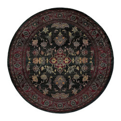 Oriental Weavers - Traditional Kharma Round 6' Round Blue-Red Area Rug - The Kharma area rug Collection offers an affordable assortment of Traditional stylings. Kharma features a blend of natural Blue-Red color. Machine Made of Polypropylene the Kharma Collection is an intriguing compliment to any decor.