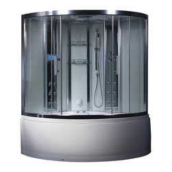 Ariel Platinum - Ariel Platinum DA324HF3 Steam Shower w/ Whirlpool Bathtub 59x59x89 - These fully loaded steam showers include a whirlpool bathtub, massage jets, chromotherapy, aromatherapy and built in FM Radio for Easy Listening s to help increase your therapeutic experience.