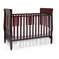 "Graco - Sarah Classic 4-in-1 Convertible Crib Set - The traditional sleigh design of the Sarah 4-in-1 convertible crib makes it a popular choice for baby's nursery, especially with safety minded parents. This lovely crib easily changes into a toddler bed, daybed and full-size headboard. Features: -Sarah collection. -Material: Wood. -Non - drop side. -Three-position mattress height adjustment. -Four sturdy rollers (two locking) for ease of mobility. -Easy to clean surfaces. -JPMA, ASTM and CPSC safety certified. -Five-year limited warranty against manufacturer's defects. -This is a NON-Drop Side crib. Dimensions: -45.38"" H x 38.25"" W x 57.38"" D, 54 lbs."