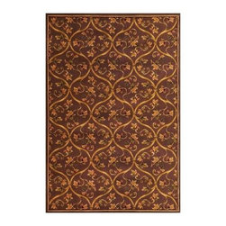 """Kas Rugs - Area Rug: Floral Scroll Plum 2' 3"""" x 3' 3"""" - Shop for Flooring at The Home Depot. This series uses heat-set yarns and hand carved with specific attention to detail. This line features classic Aubusson floral patterns, a look usually found only in traditional hand knotted collections. This timeless classic has been designed with today's colors in mind, bringing a beautiful blend of yesterday and today in your home."""